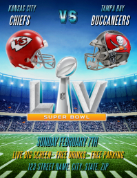 SUPER BOWL LIII PARTY FLYER TEMPLATE