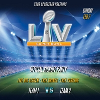 SUPER BOWL LIV 2020 FLYER TEMPLATE