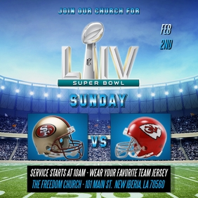 SUPER BOWL LIV CHURCH FLYER