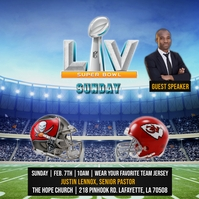 SUPER BOWL LIV CHURCH FLYER TEMPLATE