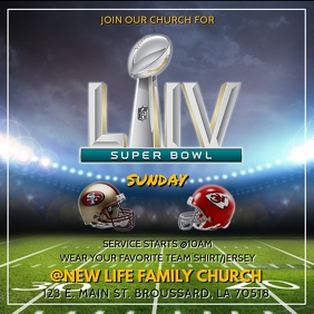 SUPER BOWL LIV CHURCH SERVICE