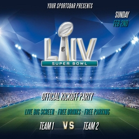 SUPER BOWL LIV FLYER