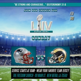 SUPER BOWL LIV FOOTBALL CHURCH FLYER