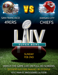 SUPER BOWL LIV FOOTBALL PARTY FLYER TEMPLATE