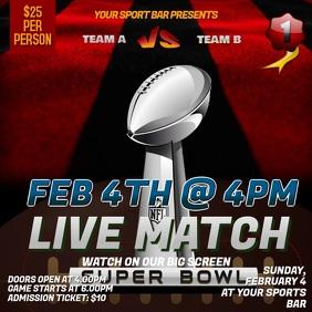 Super Bowl Live Screening Instagram Template