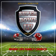 SUPER BOWL LV SUPER SUNDAY CHURCH SERVICE Publicação no Instagram template