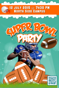 Super bowl party - Green backgound