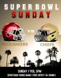 Super Bowl party Рекламная листовка (US Letter) template