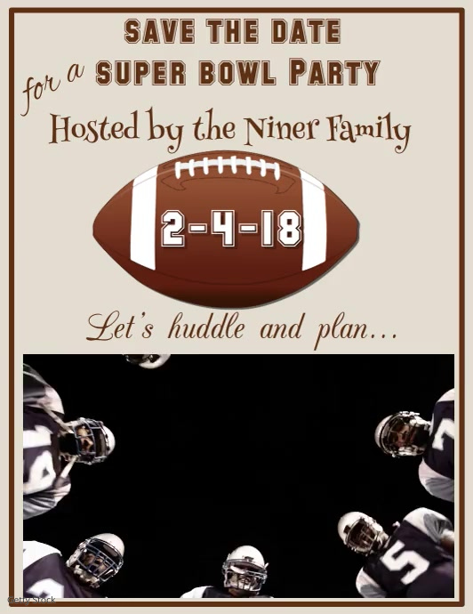 Super Bowl Party Flyer Template Postermywall
