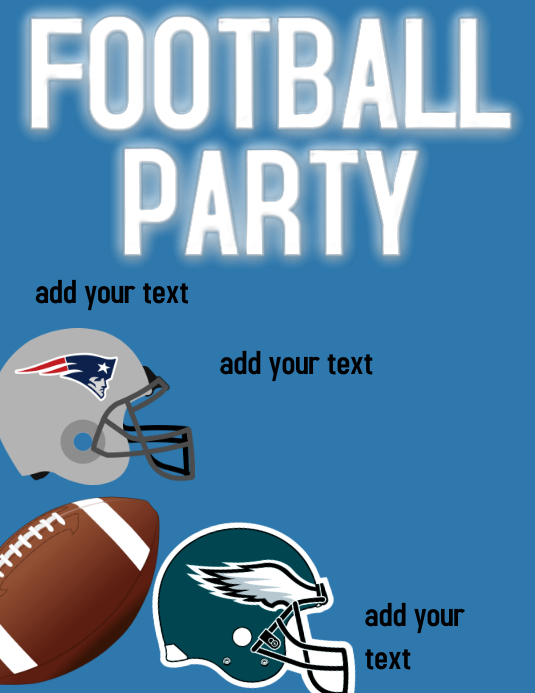SUPER BOWL PARTY Template | PosterMyWall