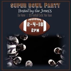super bowl party flyers templates