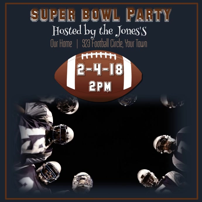 Super Bowl Party Video Template | PosterMyWall