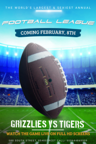 Super Bowl Poster Template