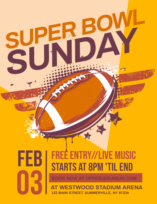 Super Bowl Sunday Flyer