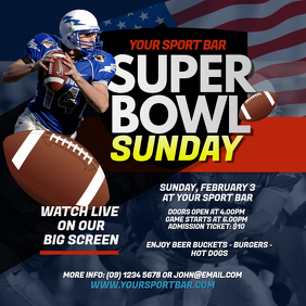 Super Bowl Sunday Instagram Post