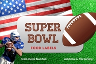 Super Bowl Templates Label