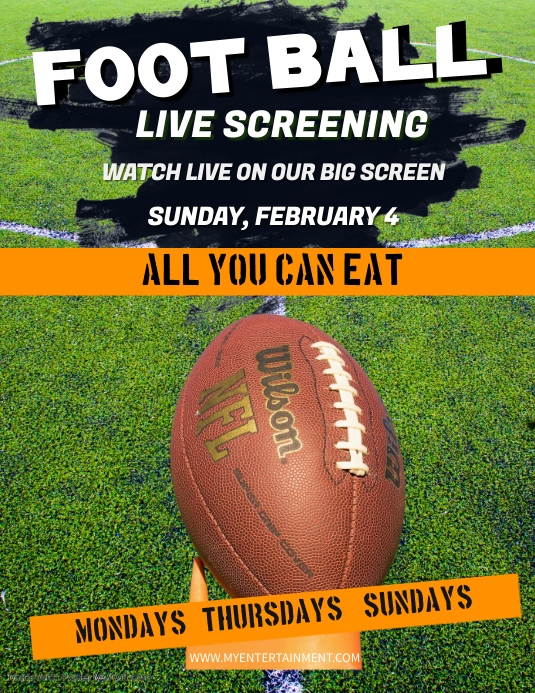 Super Bowl Watch Party Flyer Template Postermywall