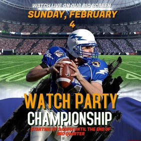 Super Bowl Watch Party Instagram Video Template