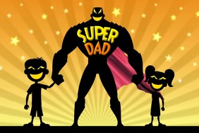 Super Dad on Father's Day Template Plakkaat