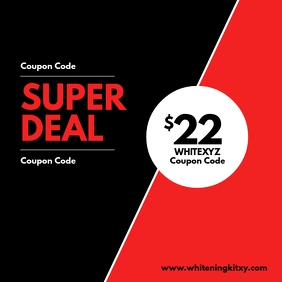 Super Deal Special Deal Promotion Coupon Code Instagram Post template