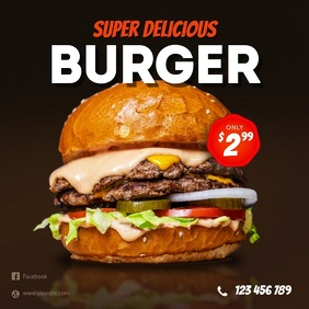 Super Delicious Burger Instagram Banner