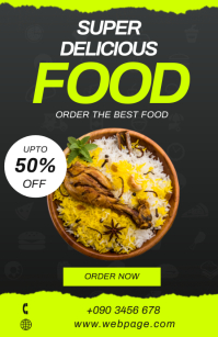SUPER DELICIOUS FOOD BANNER Tabloid template