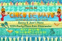 Super Fun Cinco de Mayo Invitation Audio Poster template