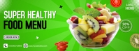 Super Healthy Food Facebook Cover Photo template