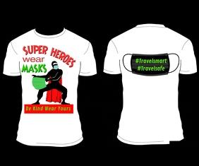 SUPER HEROes MASK T-shirt DESIGN สามเหลี่ยมขนาดใหญ่ template