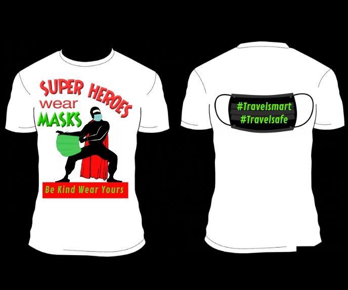 SUPER HEROes MASK T-shirt DESIGN Persegi Panjang Besar template