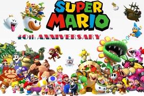 Super Mario 40th Anniversary Party Theme NES