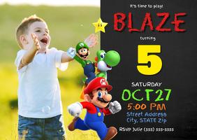 Super Mario Birthday Invitation