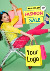 Super Sale Big advert promo fashion shopping retail store