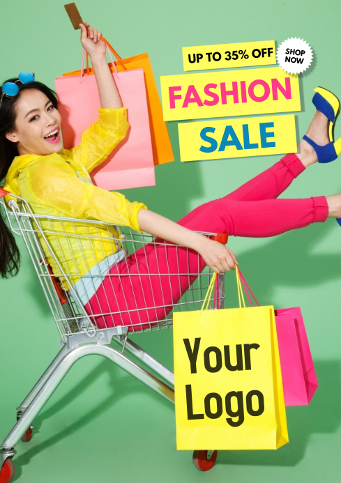 Super Sale Big advert promo fashion shopping retail store