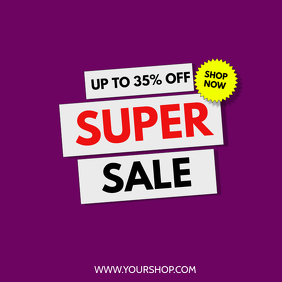Super Sale Big sell-out advert promo now shopping retail