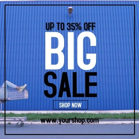 Super Sale Big sell-out advert promo shop now shopping cart