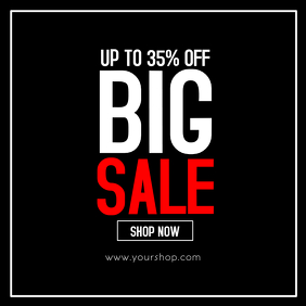 Super Sale Big sell-out advert promo shop now shopping