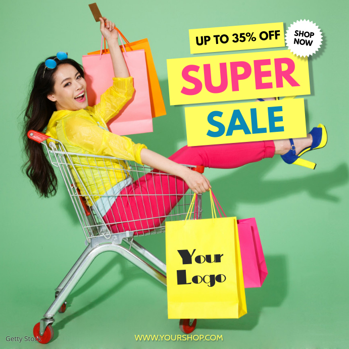 Super Sale Big sellout advert promo fashion shopping retail