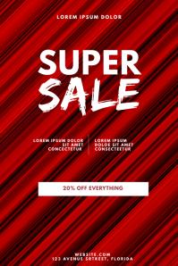 Super Sale Flyer Design Template