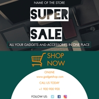 Super Sale Gadgets and Accessories Instagram Post template