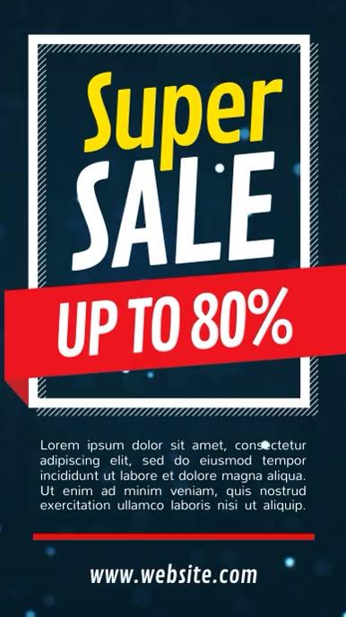 Super Sale Portrait Digital Display Video