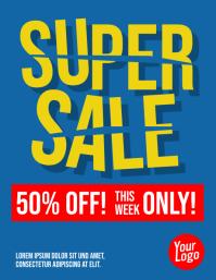 Super Sale Price Cut Flyer