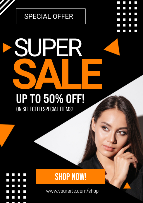 Super Sale Special Offer Flyer Ad A4 template