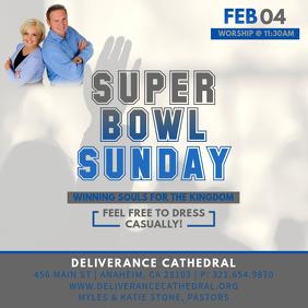Super Bowl Sunday Instagram Post template