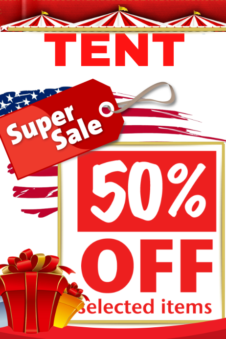 super tent sale template postermywall