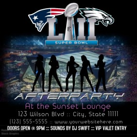 Superbowl afterparty instagram flyer interactive