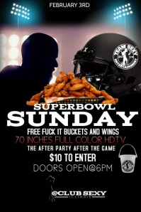 SUPERBOWL FLYER Poster template