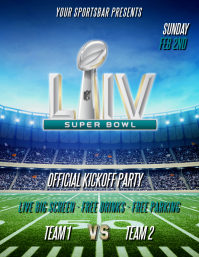 SUPERBOWL LIV FOOTBALL FLYER
