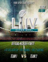SUPERBOWL LIV FOOTBALL FLYER TEMPLATE