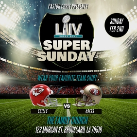 SUPERBOWL LIV SUPER SUNDAY CHURCH FLYER